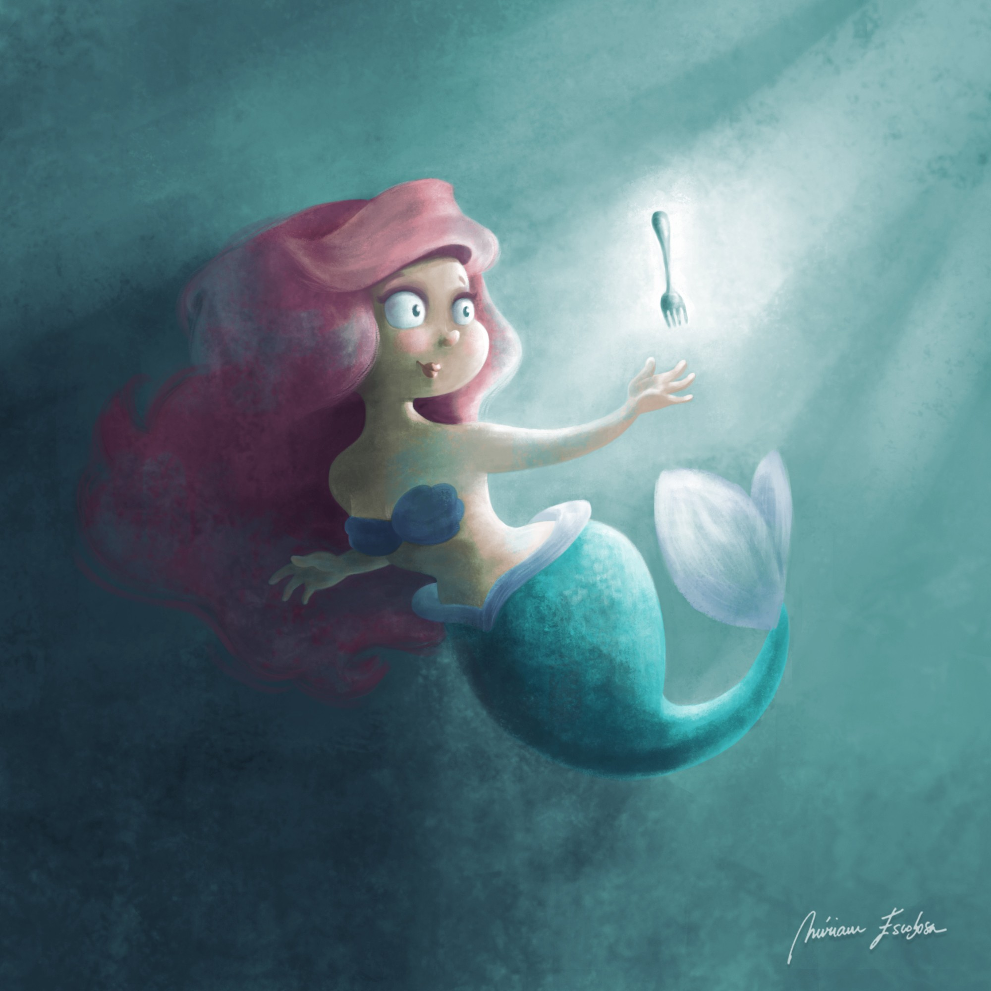 Ariel, the little mermaid by Miriam Escobosa