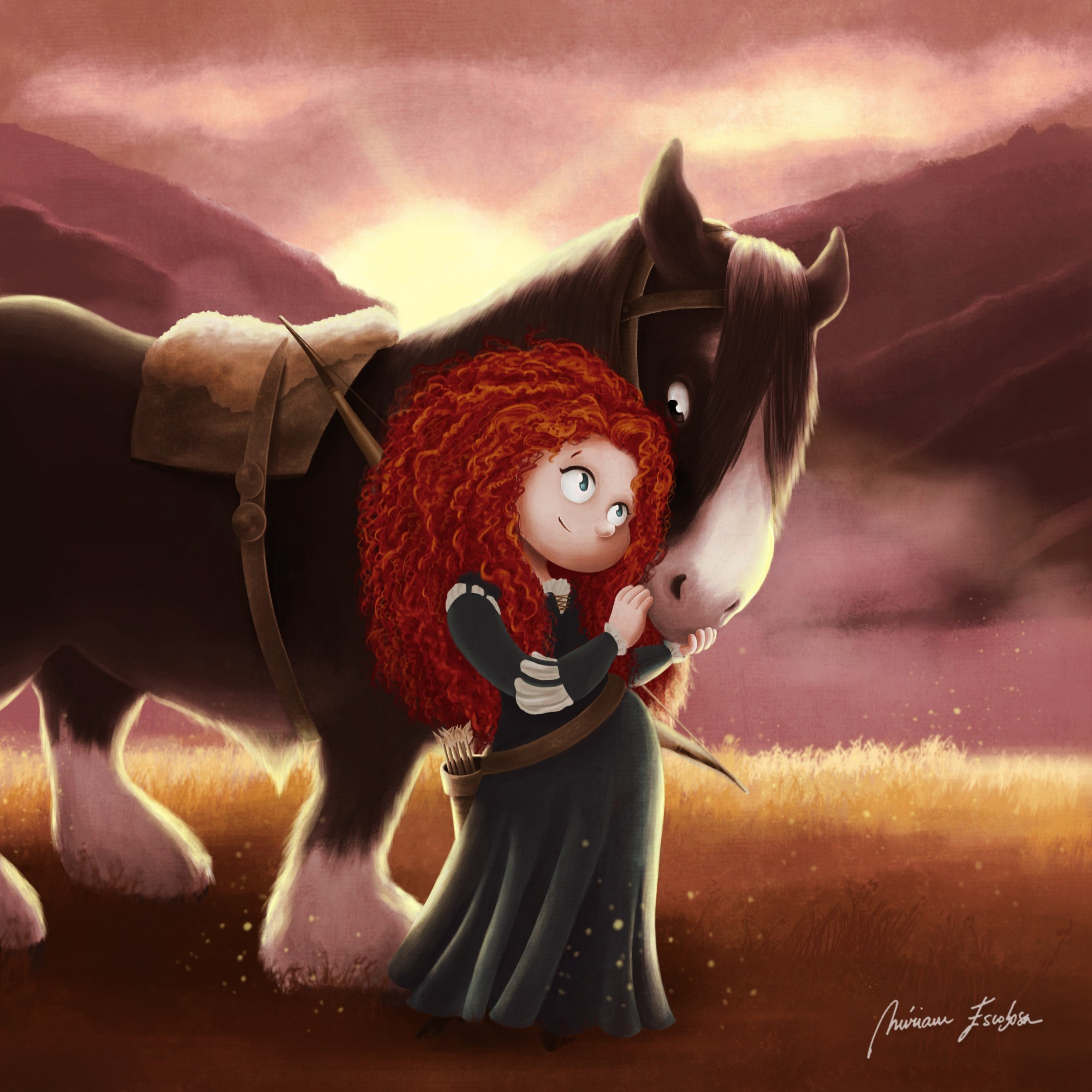 Merida from Brave by Miriam Escobosa