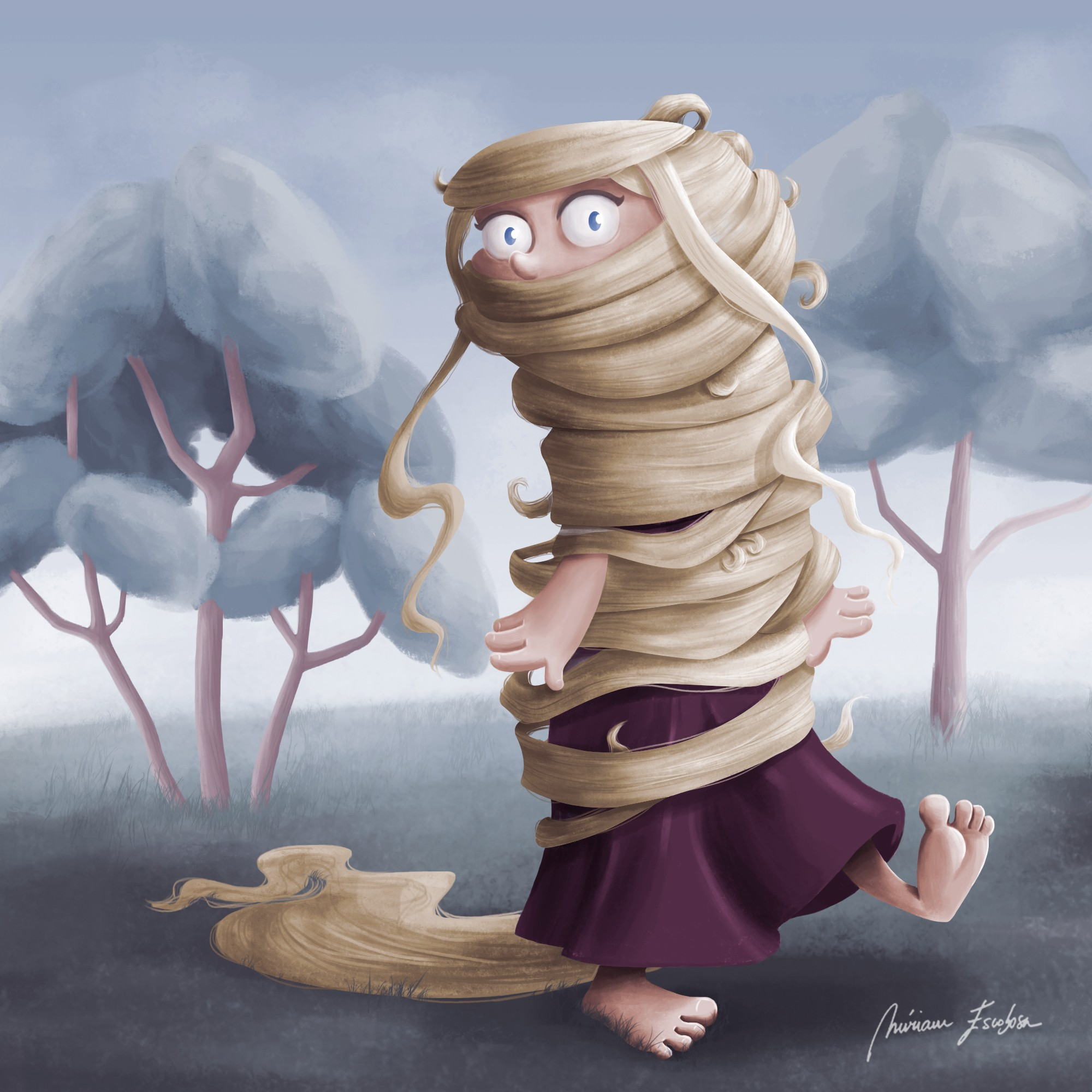 Rapunzel from Tangled by Miriam Escobosa
